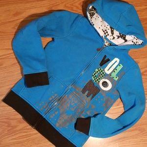 Volcom zip up hooded sweatshirt xs